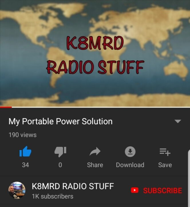 K8MRD Portable Power Solution on YouTube
